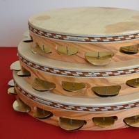 Tamburelli in legno di ulivo